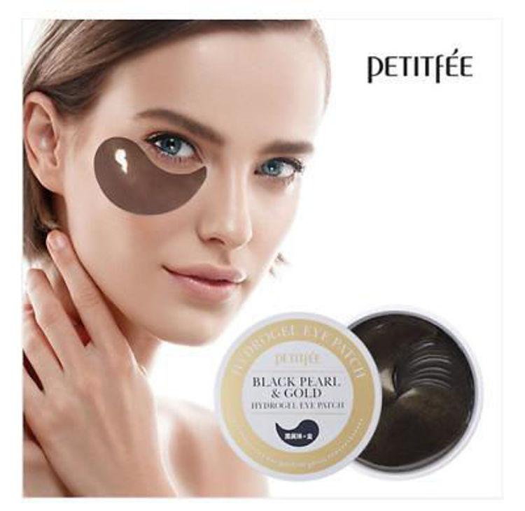 Изображение на ПАЧОВЕ ЗА ОЧИ С ЧЕРНА ПЕРЛА И ЗЛАТО PETITFEE  Black Pearl & Gold Eye Patch 60бр