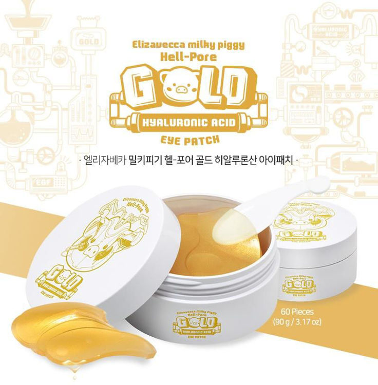 Picture of Elizavecca  Hell-Pore Gold Hyaluronic Acid Eye Patch 60pieces