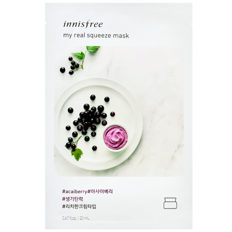 Picture of Innisfree  My Real Squeeze Mask EX   Acai Berry 20ml