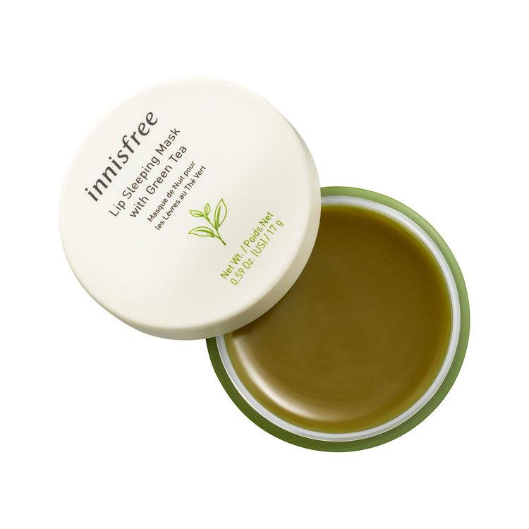 Изображение на НОЩНА МАСКА ЗА УСТНИ СЪС ЗЕЛЕН ЧАЙ  Innisfree Green Tea Lip Sleeping Mask 17г