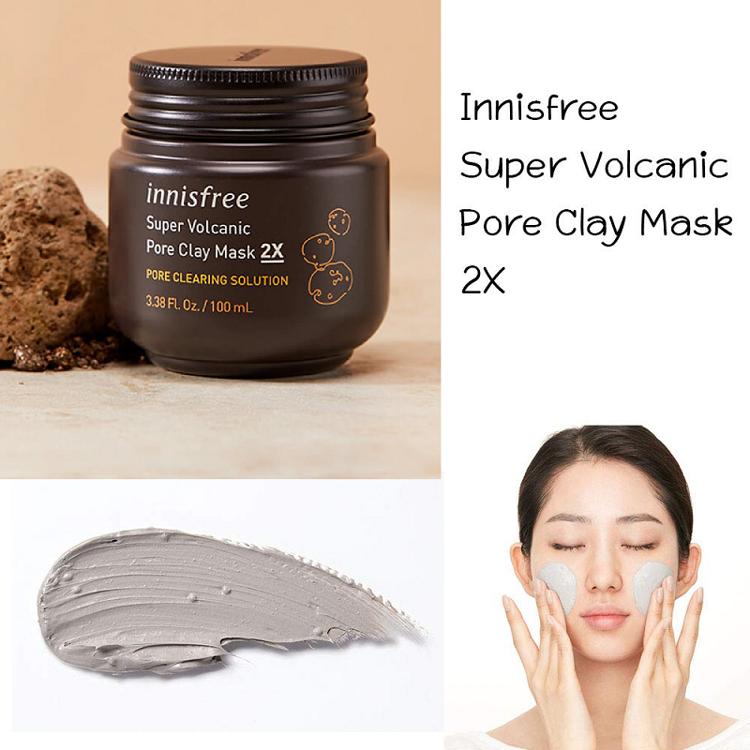 Изображение на МАСКА ЗА ПОРИТЕ С ВУЛКАНИЧНА ГЛИНА Innisfree Super Volcanic Pore Clay Mask 2X 100мл