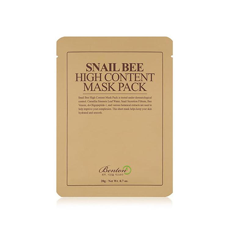 Изображение на ШИЙТ МАСКА С ЕКСТРАКТ ОТ ОХЛЮВИ И ПЧЕЛНА ОТРОВА  Benton Snail Bee High Content Mask Pack 20г