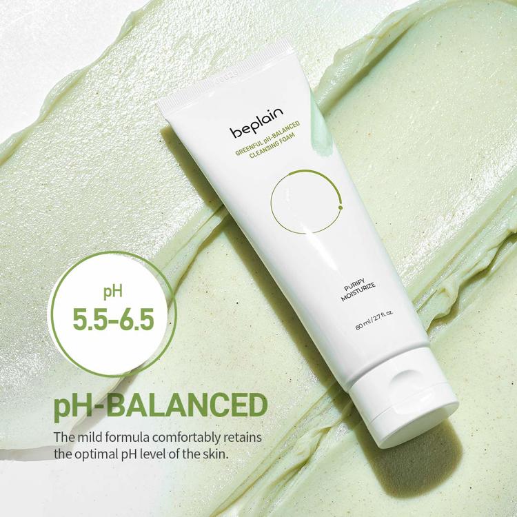 Изображение на ЗЕЛЕНА ПОЧИСТВАЩА ПЯНА beplain Greenful pH-Balanced Cleansing Foam 80мл